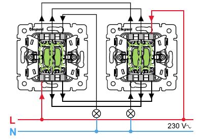 Схема подключения legrand выключателя