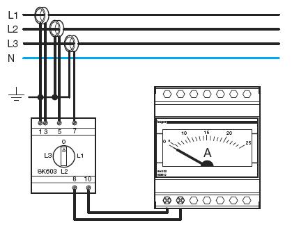 схема подключения амперметра к