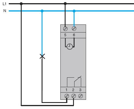 Схема подключения таймера