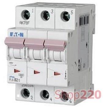 Автоматический выключатель трехфазный 6 А PL6-C6/3 Moeller PL6, уставка С - фото 14858