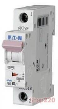 Автоматический выключатель Moeller PL6 В 63A 1пол. (1ф), PL6-B63/1 - фото 14892