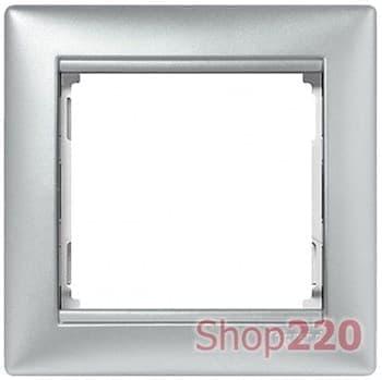 Рамка 1 пост, алюминий, 770151 Valena Legrand - фото 16374
