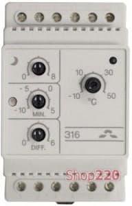 Терморегулятор Devireg 316, -10 - +50 *С, 16 А, 140F1075 Devi - фото 10265
