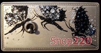Рамка Exclusive латунь с кристалами Swarovski, в.1 - фото 10332