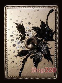 Рамка Exclusive латунь с кристалами Swarovski, в.6 - фото 10337