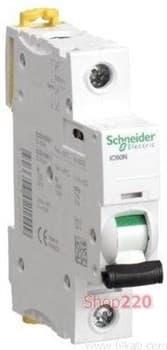 Автоматический выключатель ACTI 9, 63A тип C, однополюсный, iC60N A9F79163 Schneider - фото 10366