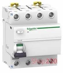 УЗО Schneider Electric Acti9 ilD, 4P 40A 30мА, тип AC A9R41440 - фото 10432