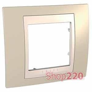 Рамка 1 пост, песочный, Unica MGU6.002.567 Schneider - фото 10541
