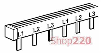 Гребёнка 3Р (трехполюсная), 12 модулей типа штырь, 404942 Legrand - фото 11132