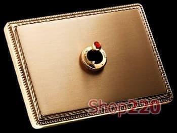 Переключатель, 10АХ 250В, золото с кристаллом гиацинт Svarovsky - фото 11142