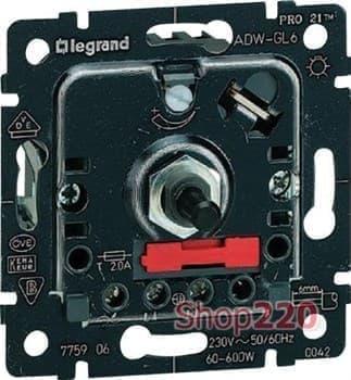 Механизм диммера 400 Вт поворотный, Galea Life 775654 Legrand - фото 11423