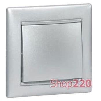 Выключатель крестовой 1-клавишный, алюминий, Legrand 770107 Valena - фото 11493