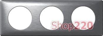 Рамка 3 поста, алюминий, 68923 Celiane Legrand - фото 13058