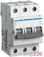 Автоматический выключатель 16 А, 3-фазный, уставка В, MB316A Hager - фото 13734