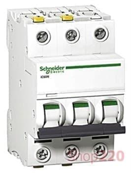 Автоматический выключатель ACTI 9, 10A тип C, трехполюсный, iC60N A9F79310 Schneider - фото 30967