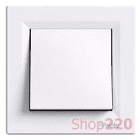 Выключатель одноклавишный, белый, EPH0100121 Schneider Asfora - фото 31038