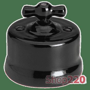 Выключатель керамика, черный, Garby Fontini 30306270 - фото 31249