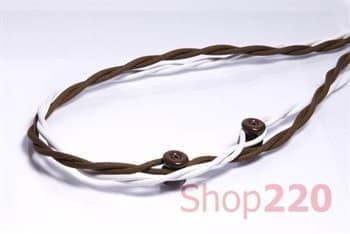Ретро проводка 3х1,5, коричневый, Fontini - фото 31261