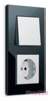 Выключатель черное стекло, Gira Esprit - фото 31843