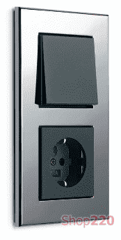 Выключатель хром, Gira Esprit - фото 31845
