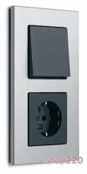 Выключатель алюминий, Gira Esprit - фото 31846