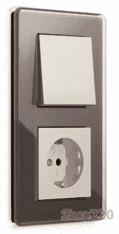 Выключатель дымчатое стекло, Gira Esprit - фото 31847