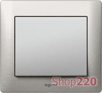 Рамка 4 поста, матовый алюминий, 771954 Legrand - фото 32061