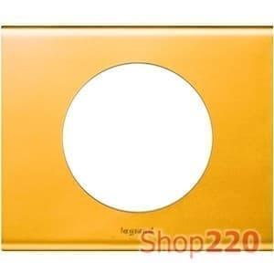 Рамка 1 пост, золото, 69131 Legrand - фото 32074