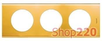 Рамка 3 поста, золото , 69133 Legrand - фото 32077