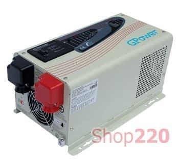 Инвертор напряжения 24 В / 220 В, мощность 1500 Вт, GPower - фото 34021