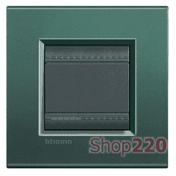 Рамка прямоугольная, 1 пост, цвет Зеленый шелк - фото 34098