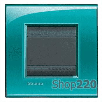 Рамка прямоугольная, 1 пост, цвет Зеленый - фото 34099