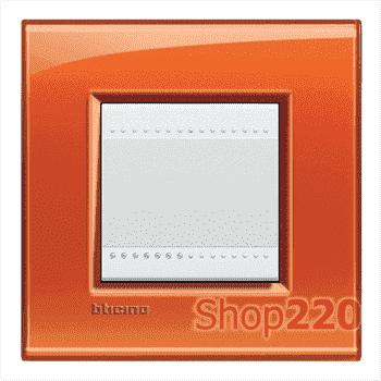 Рамка прямоугольная, 1 пост, цвет Оранжевый - фото 34107