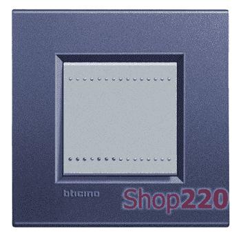 Рамка прямоугольная, 1 пост, цвет Синий шелк