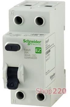 УЗО 40 А, 30 мА, 2 полюса EZ9R34240 Schneider Easy9 - фото 34696
