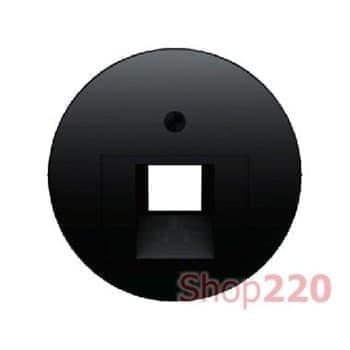 Розетка RJ-45 компьютерная экранированная, черный, Berker - фото 34888
