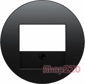 Аудио розетка двойная, черный, Berker - фото 34900