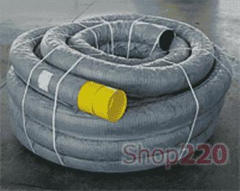 Труба гофрированная дренажная 110 мм, с геофильтром и муфтой, бухта 50м