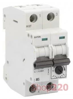 Автомат защиты двигателя 6,3А, 2 полюса, Z-MS-6,3/2  Eaton - фото 35956