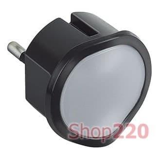 Ночник с датчиком освещения, димируемый, черный, 50677 Legrand