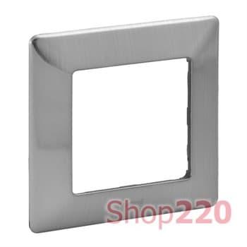 Рамка 1 пост, сталь, Valena 754151 Legrand - фото 38043