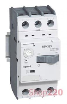 Автоматический выключатель для защиты двигателей 2,5 - 4,0 А , MPX3 32S 417307 Legrand - фото 38631