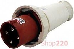 Силовая вилка 63А, 380В, 5 полюсов, переносная, e.plug.pro.5.63 - фото 40203
