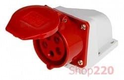 Силовая розетка 32А, 380В, 5 полюсов, стационарная, e.socket.pro.5.32 - фото 40215