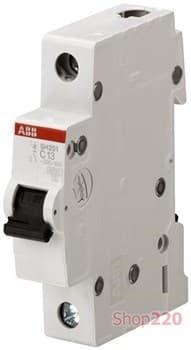 Автоматический выключатель 63А, 1 полюс, уставка C, ABB SH201-C63 - фото 42927