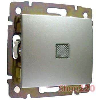 Выключатель с подсветкой, алюминий, Legrand 770110 Valena - фото 45226