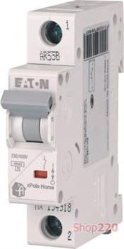 Автоматический выключатель 16А, тип C, 1 полюс, HL-C16/1 Eaton 194731 - фото 46298