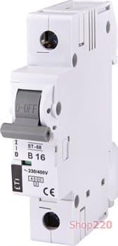 Автоматический выключатель 16А, 1 полюс, тип B, Eti 2171316