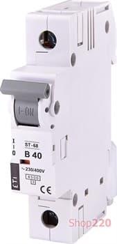 Автоматический выключатель 40А, 1 полюс, тип B, Eti 2171320