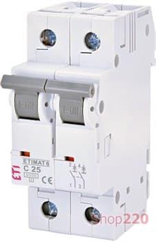 Автоматический выключатель 25А, 2 полюса, тип C, Eti 2143518 - фото 46609
